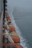 Lifeboats at sea by enavantinc