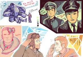 Wolfenstein Doodles by caboosemcgrief