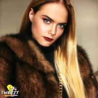 Cara Delevingne in sable fur coat by Tweety63