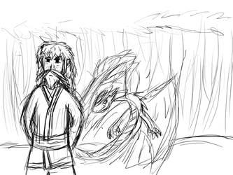 Master and dragon by LightPyricsage
