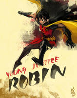 Young Justice-Robin by agathexu