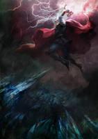 Thor fight in Valhalla by agathexu