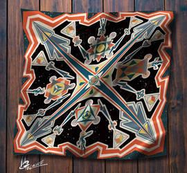 Universe Scarf by agathexu