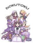 Dokutoku family Colored by froggiechan