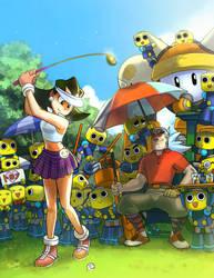 Tron's Golf by froggiechan