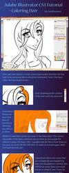 Illustrator CS3 Tutorial-Hair by caroldreamer