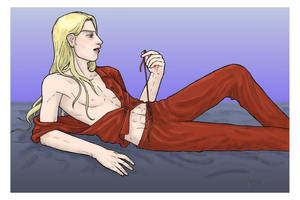 Milo's red jammies by StarTyrian