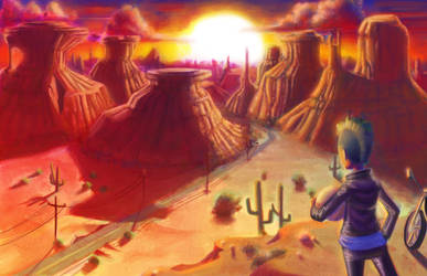 Staring at the desert by Darthpepo1