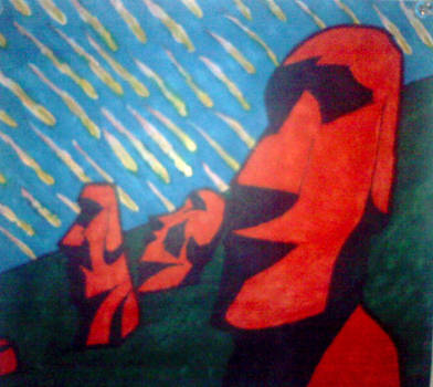 Easter Island Meteor Shower by ComradeRooski