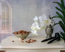 Still life with almonds by Daykiney