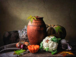 A living addition to the still life by Daykiney