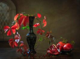 Pomegranates autumn by Daykiney