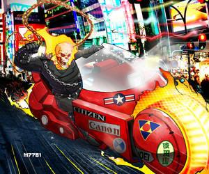 ghost rider x akira by m7781