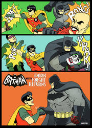 60's Batman TV show x Dark Knight Returns by m7781