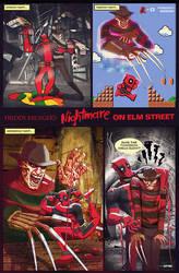 a nightmare on elm street x deadpool by m7781