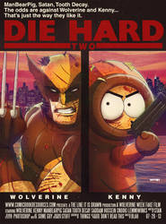 wolverine and kenny: DIE HARD TWO by m7781