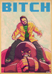 jesse pinkman x the juggernaut by m7781
