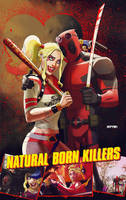 deadpool n' harley quinn: natural born killers by m7781