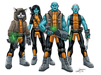Cyber-Knight Thugs by lukesparrow
