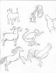Chinese Zodiac Part 2 by ishrahsan