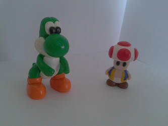 Yoshi and Toad by xNiz93x