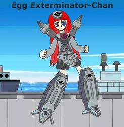 Mecha-Musume: Egg Exterminator-Chan by Hexidextrous