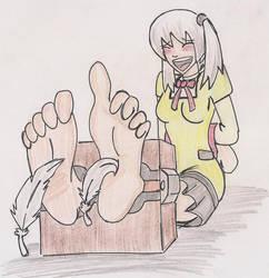 Rika Isoni Tickled - by Gear-Of-Ren by Hexidextrous
