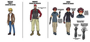 Crimson Tide Crew: Skittles Maurice and Erwin-Ref by Hexidextrous