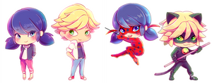 Miraculous Ladybug Chibis by mrnvlz