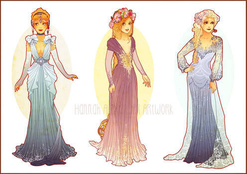 Art Nouveau Costume Designs II by Hannah-Alexander