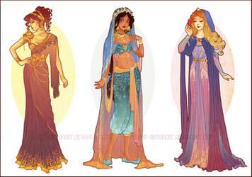 Art Nouveau Costume Designs V by Hannah-Alexander