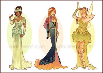 Art Nouveau Costume Designs VII by Hannah-Alexander