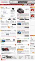 Auto Website layout by vinkrins
