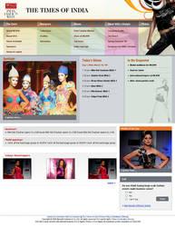 Fashion Website layout by vinkrins
