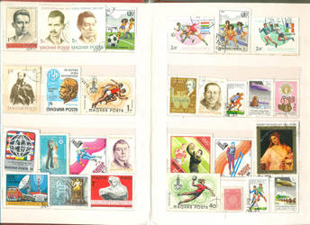 Postage Stamp collection 2 by vinkrins