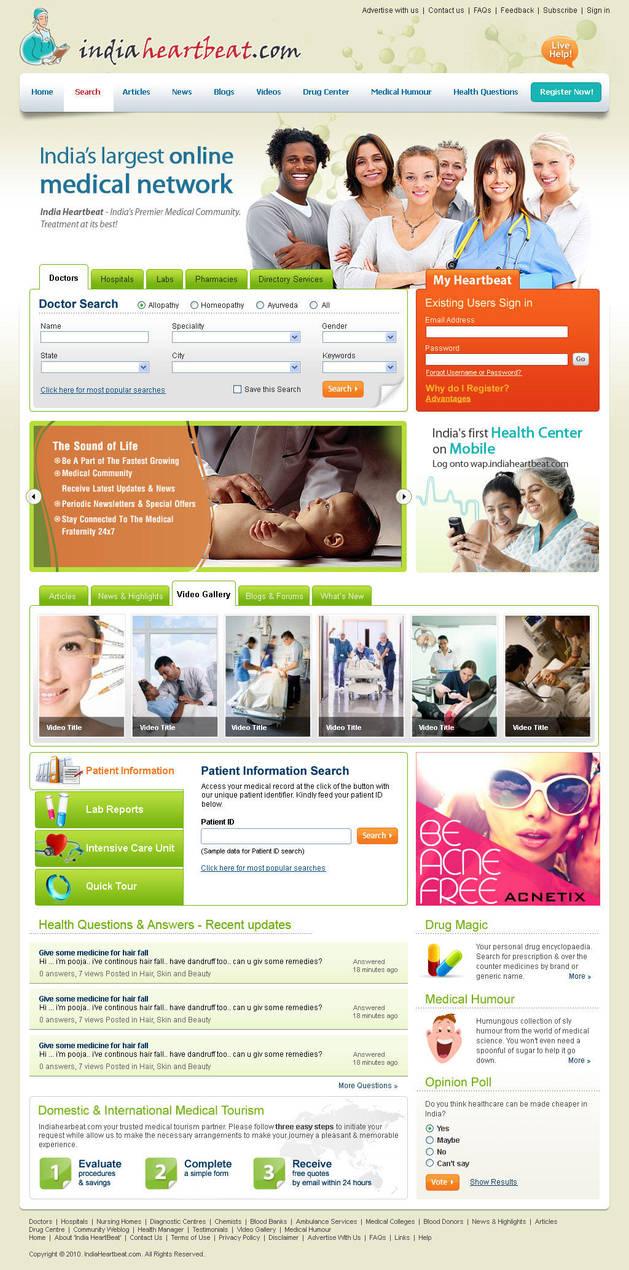 Medical Website by vinkrins