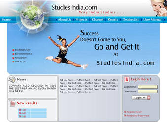 web interface, studies india by vinkrins