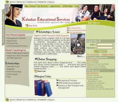 web interface, kalaskar edu by vinkrins