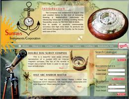 web interface, sunrays by vinkrins