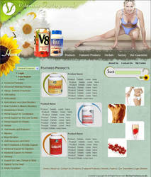 web interface,vitamins factory by vinkrins