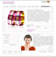 Web Interface, AB Poly jewller by vinkrins