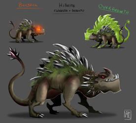 Hybrid Dinosaur - Desert + Forest by Ade21
