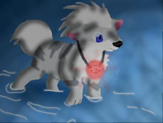 Snowcrystal the Growlithe by inupokecats649