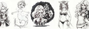 Inktober selection 2 by Ritusss