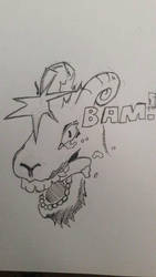 80's Goat  by Handness