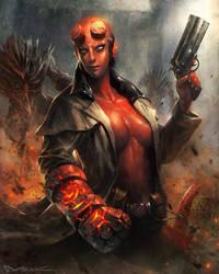 Hellgirl by kamiyamark