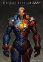 Kikaider X Ironman by kamiyamark