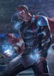 Thor Ragnarok by kamiyamark