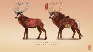 Autumn Leaves Exclusive Stag by Shapooda