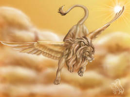 Winged Lion by Rhodea